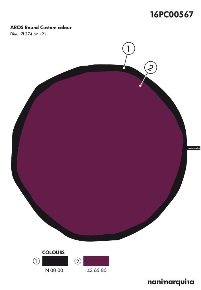 1. Aros Round Custom Color (274cm)